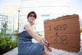 Unemployed woman — Stock Photo