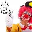 Funny clown message — Stock Photo
