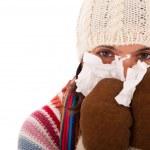 Woman with flu symptoms — Stock Photo #8441896