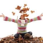 Fun at autumn season — Stock Photo #8441937