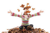 Fun at autumn season — Stock Photo