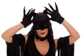 Cat Woman — Stock Photo