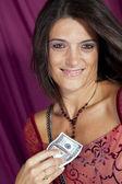 Bella donna ricca — Foto Stock