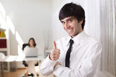 Businessman at the office — Stock Photo