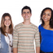Stock Photo: Three happy teenagers