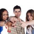 Three happy young friends — Stock Photo #8463260