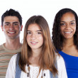 Royalty-Free Stock Photo: Three happy teenagers
