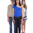 Three teenagers friends — Stock Photo