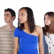 Three teenagers friends — Stock Photo #8463275