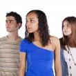Three teenagers friends — Stock Photo