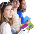 Three teenage studens — Stock Photo #8463319