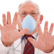Senior doctor with a mask — Stock Photo #8465571