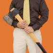 Stock Photo: Axe for downsizing 2