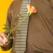 Man & Flower — Stock Photo