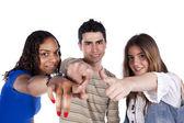 Tres jóvenes amigos felices — Foto de Stock