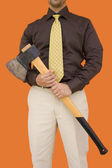 Axe for downsizing 2 — Stock Photo