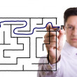 Maze solution — Stock Photo #8530898