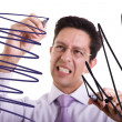 Businessman gone crazy — Stock Photo