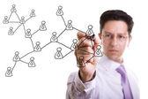 Social network scheme — Стоковое фото
