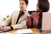 Businesswoman harassment — Stock Photo