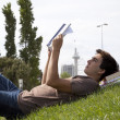 Stock Photo: Studing in outdoor