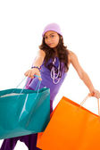 Young child with shopping bags — Stock Photo