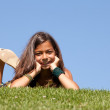 Young child on the grass — Stock Photo