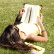 Children reading a book — Foto de Stock