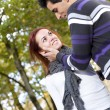 Stock Photo: Love and affection between a young couple