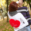 Young couple celebrating Valentine Day — Stock Photo #8630291