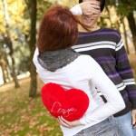 Young couple celebrating Valentine Day — Stock Photo