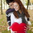 Love and affection between a young couple — Stock Photo #8630320