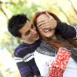 Young couple surprise — Stock Photo
