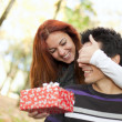 Young couple surprise — Stock Photo #8630335