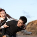 Young couple having fun — Stock Photo #8630375