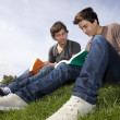 Studing in outdoor — Stock Photo #8638123