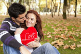 Love and affection between a young couple — Стоковое фото