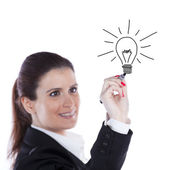 Businesswoman ideias — Stock Photo