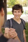 Student handshake — Stock Photo