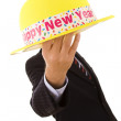 New year yellow hat — Stock Photo