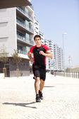 Running athlete — Stock Photo