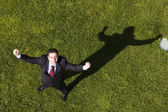 The shadow of success — Stock Photo