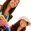 Foto Stock: Two young student sisters
