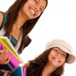 Two young student sisters — Stock Photo #8659070