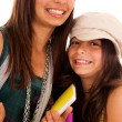 Two young student sisters — Stock Photo #8659079