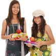 Two young student sisters — Stock Photo #8659081