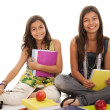 Two young student sisters — Stock Photo #8659088