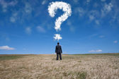 The big question — Stock Photo