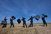 Leaving to a business travel — Stock Photo