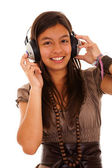 Teenager enjoying good music — Stock Photo